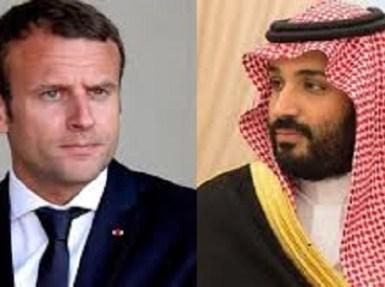 سمو ولي العهد يتلقى اتصالا هاتفيا من الرئيس الفرنسي